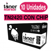 Pack 10 Toner Brother TN2420 con CHIP