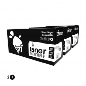 Pack 3 toner Brother TN2220 (2600 pag)